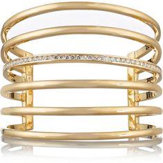 Lynn Ban 14-karat gold diamond cuff (115,415 PEN) ❤ liked on Polyvore featuring jewelry, bracelets, accessories, gold, jewels, 14k bangle, kohl jewelry, 14 karat gold jewelry, cuff bangle and diamond jewelry