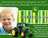 John Deere Tractor Birthday Party PHOTO Invitation - Digital file