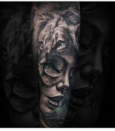 40 Lion Forearm Tattoos For Men – Manly Ink Ideas Female Portrait With Lion Mens Forearm Sleeve Tattoo Design Ideas Mens Forearm Sleeve Tattoo, Lion Forearm Tattoos, Neck Tatto, Tattoos Arm Mann, Leo Tattoos, Tattoo Hals, Tattoo Sleeve Designs, Arm Tattoos For Guys, Trendy Tattoos