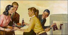 Teenage Party, Coca-Cola Ad by Harry Anderson, 1958.