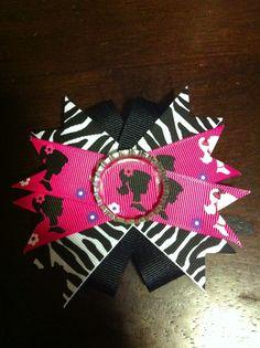 Barbie and Zebra bow