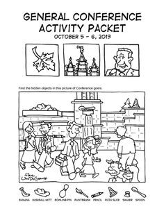 LDS General Conference Coloring & Activity Pages for Kids