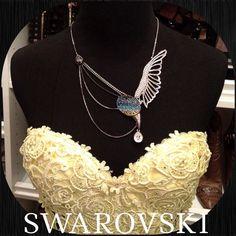 Stunning Authentic Swarovski Bird Necklace