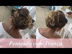 Penteado em cabelo curto 2  por Priscila Barbosa - YouTube