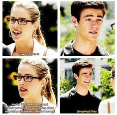 The Flash - Felicity and Barry #1.4 #Season1 #Smoaken