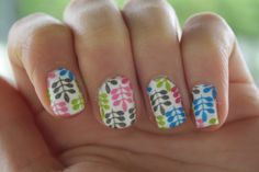 Washi Tape, Nails, NOTD, DIY
