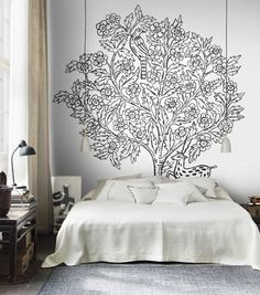 Eden wallpaper mural by Sandberg - oversized tree inspired by the Indian pattern tradition