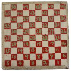 Primitive, over sized game board, c. 1940.