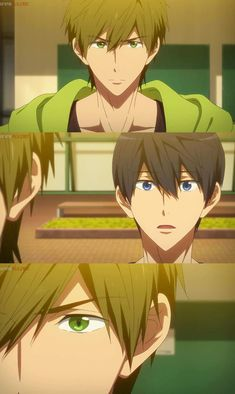 Makoto defending Haru. Makoto Tachibana, Makoharu, Hot Anime Boy, Anime Guys, Free Makoto, Splash Free, Free Eternal Summer, Free Iwatobi Swim Club, Otaku