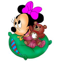 Baby Minnie Mouse - Cartoon Clip Art