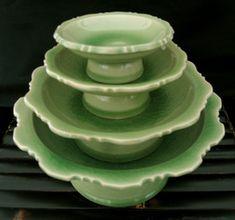 Asian Style Table Top \u0026 Celadon - Boon Decor & Thai Celadon Dinnerware Buy Peony Goldfish Design Bowls Rice Soup ...