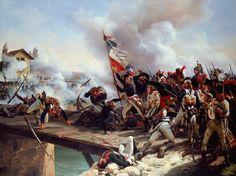 The Battle Of Pont D'arcole- by Horace Vernet