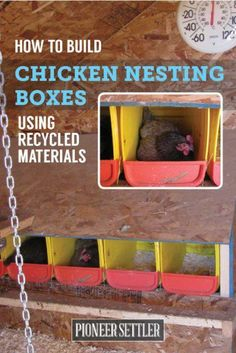 Chicken Nesting Boxes | How To Repurpose Materials Found Around The House