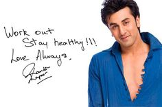 Ranbir Kapoor Autograph -Contact your favorite celebrities free at StarAddresses.com