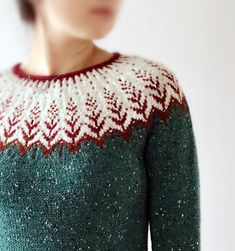 """Vintersol (""""winter sunshine"""") is inspired by a walk in a frosty, wintery meadow. This example is mad Fair Isle Knitting Patterns, Knit Patterns, Icelandic Sweaters, Wool Yarn, Knitting Projects, Pulls, Free Pattern, Knit Crochet, Knitwear"""