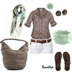 """""""Mint & brown"""" by hosefish on Polyvore"""