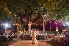 Rustic wedding legends ranch  las vegas wedding  bistro lights