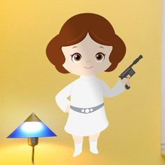 Vinilos Infantiles: Princesa Leia #friki #TeleAdhesivo