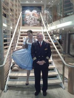 Lucie and Captain Lovin abaord Viking Cruises