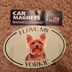 """Great for cars, trucks, mailboxes or anything magnetic! These breed specific oval magnets measure 6"""" wide x 4"""" tall.  All magnets are:  • Made in the USA  • Screen-printed with long-lasting UV stable inks on a heavy-weight magnetic material      Price is firm!!!  Lowball offers will be ignored.  Rude or disrupted commenters will be blocked.  If you would like to bundle items, feel free to contact me.  Questions will be answered as soon as time allows.  Payment is only accepted on here…"""