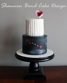 Heart Apart, Knit Together Cake - Cake by Shannon Bond Cake Design