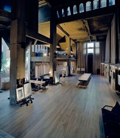 Architect Ricardo Bofill took this old cement factory in Barcelona and turned it into his home and office. The Cement Factory was ab. Interior Architecture, Interior And Exterior, Interior Design, Barcelona Architecture, Lobby Interior, Magic Places, Modern Castle, Ricardo Bofill, Warehouse Conversion