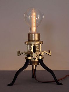 Steampunk maker Art Donovan has just finished a whole whack of fantastic steampunk lamp designs. These are illuminating in the extreme.