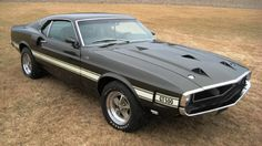 Looking for a rare, low-mileage muscle car? A one-owner 1969 Mustang Shelby with just 8531 original miles is being offered as part of a public estate auction. Ford Mustang Shelby Gt500, 1967 Mustang, Ford Shelby, Mustang Cars, Top 10 Muscle Cars, Muscle Cars Vintage, Vintage Cars, Pontiac Gto, Mustang