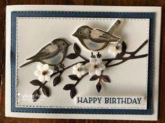 Masculine Birthday Cards, Handmade Birthday Cards, Feather Cards, Horse Cards, Heartfelt Creations Cards, Card Making Supplies, Bird Theme, Bird On Branch, Bird Cards