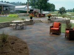 Wonderful Stained Concrete Patio Ideas Stained Concrete Patios The Concrete Network - Excellent outdoor patio suggestions create lots of satisfying times a Concrete Dye, Concrete Color, Stamped Concrete, Concrete Patios, Decorative Concrete, Outdoor Spaces, Outdoor Decor, Outdoor Patios, Backyard Patio