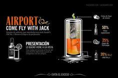 Jack Daniel's Drinks by Abraham García Sánchez, via Behance Bebidas Jack Daniels, Jack Daniels Cocktails, Whiskey Cocktails, Cocktail Drinks, Alcoholic Drinks, Beverages, Wine Supplies, Shot Recipes, Drink Recipes