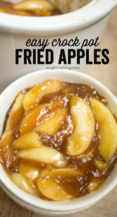 Easy Crock Pot Fried Apples These Easy Crock Pot Fried Apples are a perfect, effortless Thanksgiving side dish or an everyday treat! You'll love how easy they are to whip up! - 45 Thanksgiving Side Dish Recipes To Wow The Family Fruit Recipes, Apple Recipes, Pumpkin Recipes, Fall Recipes, Holiday Recipes, Recipies, Holiday Ham, Healthy Recipes, Delicious Recipes