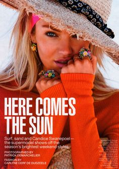 ☆ Candice Swanepoel | Photography by Patrick Demarchelier | For Lucky Magazine…