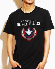 Captain America xxxl t shirt for men Agents of SHIELD personalized t shirts