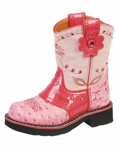 pink child cowgirl boots,... so pretty and perfect actually. LeAnn your little granddaughter will need a pair of these. <3