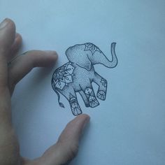 Elephant Tattoo by Medusa Lou Tattoo Artist medusaloux outloo Body Art Tattoos, New Tattoos, Sleeve Tattoos, Cool Tattoos, Phoenix Tattoos, Tatoos, Ankle Tattoos, Cute Elephant Tattoo, Elephant Tattoo Design