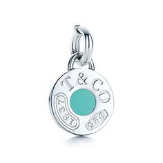 Tiffany 1837™ circle charm with Tiffany Blue® enamel finish in sterling silver.