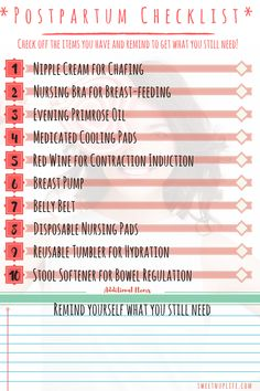 What you need after delivering your Baby - Top 10 List - Pregnancy, Babies, Parenting + FUN