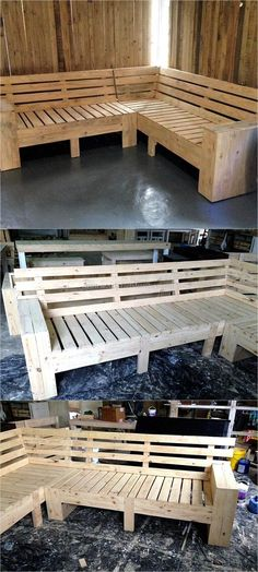 There are unlimited ideas for utilizing the shipping pallets and they are the best option to use for making the products of daily use like the chairs, bed and pet houses because they don't cost high. The individual who wants to make the products usin Wooden Pallet Crafts, Wooden Pallet Furniture, Diy Furniture Plans, Diy Pallet Projects, Recycled Furniture, Woodworking Furniture, Wooden Pallets, Wood Projects, Woodworking Projects