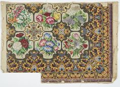 Search Collections Online - Museum of New Zealand Te Papa Tongarewa Chart Design, Rose Embroidery, Needlepoint, Needlework, Diy And Crafts, Vintage World Maps, Cross Stitch, Carpet, Victorian