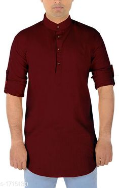 Checkout this latest Kurtas Product Name: *Ocean Men's Attractive Cotton Solid Short Kurta* Sizes:  M, L Country of Origin: India Easy Returns Available In Case Of Any Issue   Catalog Rating: ★3.9 (1009)  Catalog Name: Pearl Ocean Men's Attractive Cotton Solid Short Kurtas Vol 9 CatalogID_224446 C66-SC1200 Code: 793-1716130-969
