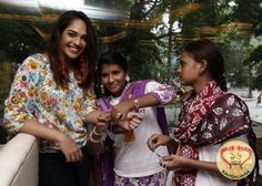 Mumtaz Sorcar and Priyadarshini Dey of The Palms Restaurant keeping  in mind the event of Friendship Day warmed up to the kids of Child in Need Institute.