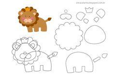 Friends of the Felt: Safari Mold Erica Catarina Animal Templates, Felt Templates, Applique Templates, Applique Patterns, Felt Animal Patterns, Stuffed Animal Patterns, Stuffed Animals, Felt Diy, Felt Crafts