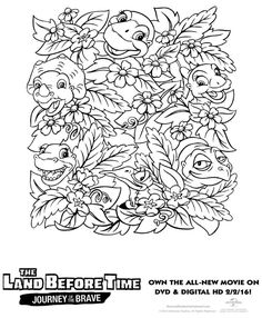 free printable land before time coloring page - Land Before Time Free Coloring Pages