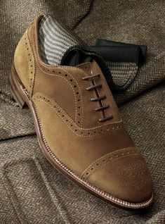 Alden Snuff Suede Medallion Cap Toe.  Need more traffic to your website?? Join PINIFIC to achieve your goal via Pinterest Marketing. visit..... www.pinific.com