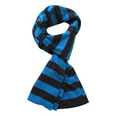 Premium Soft Knit Striped Scarf - Different Colors Available (Blue & Black) TrendsBlue Striped Scarves, Striped Knit, White Scarves, Sherlock Scarf, Mens Cashmere Scarf, Black And White Scarf, Fall Scarves, Pashmina Scarf, Square Scarf