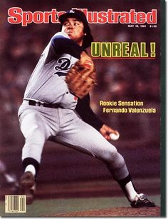 May 18 1981 Fernando Valenzuela Los Angeles Dodgers Sports Illustrated a for sale online Dodgers Baseball, Dodgers Nation, Baseball Players, Baseball Cards, Hank Aaron, Pete Rose, Los Angeles Dodgers, Sports Magazine Covers, Mlb