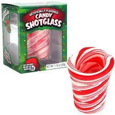 New! Candy Peppermint Shot Glasses - Retro Candy, Glass Bottle Sodas & Quirky Gifts - Blooms Candy & Soda Pop Shop
