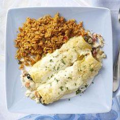 Lone Star Chicken Enchiladas Recipe from Taste of Home