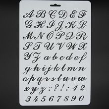 Art Letter Number Masking Spray Stencil For Walls Painting Embossing Paper Crafts Scrapbook Stamp DIY Tools Photo Album Card(China (Mainland))